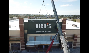 AMPRO installs Dick's Sporting Goods sign package